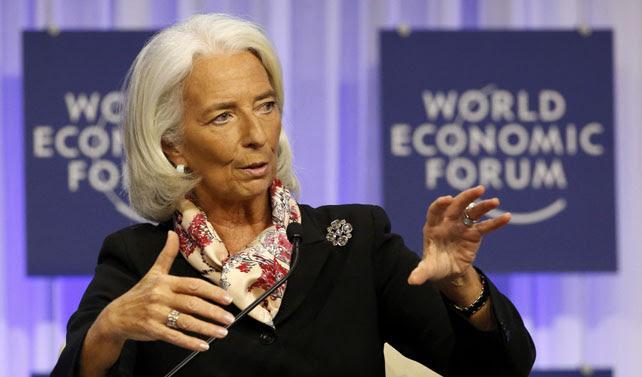La directora gerente del FMI, Christine Lagarde, durante su intervención en el Foro de Davos de la semana pasada.