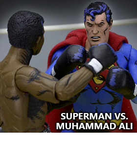 SUPERMAN VS. MUHAMMAD ALI ACTION FIGURES