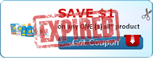 SAVE $1.00 on any ONE (1) all® product