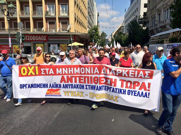 Los griegos no quieren las reformas que trata de imponer la Troika