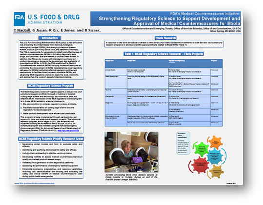 Poster: Strenthening Regulatory Science to Support Development and Approval of Medical Countermeasures for Ebola