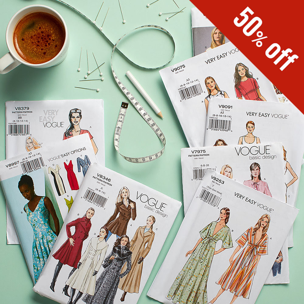 50% off all Vogue Designer Patterns