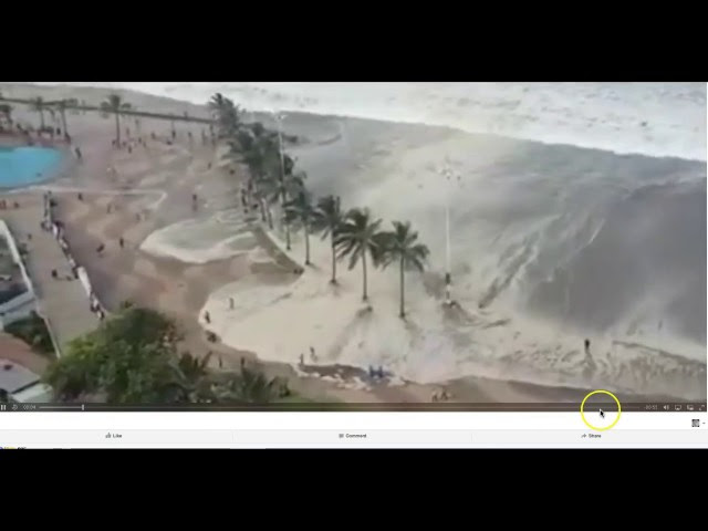 *GIANT WAVE* sends beachgoers Fleeing!  Sddefault