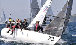German women's J/24 team at Europeans in Plymouth