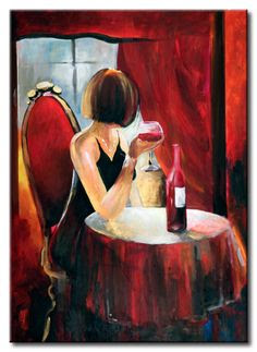Image result for glamorous woman drinking red wine illustration