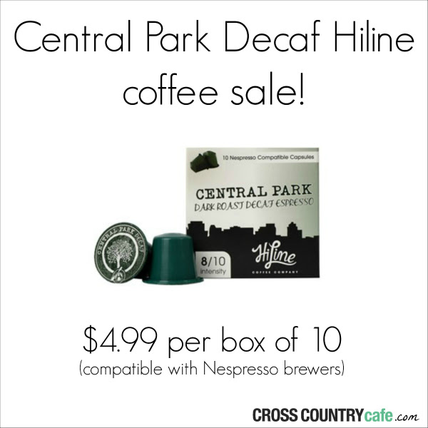 Hiline coffee Central Park decaf Nespresso compatible capsules