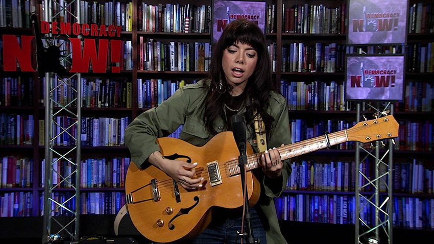Alynda Segarra of Hurray for the Riff Raff performed live in the Democracy Now! studio.