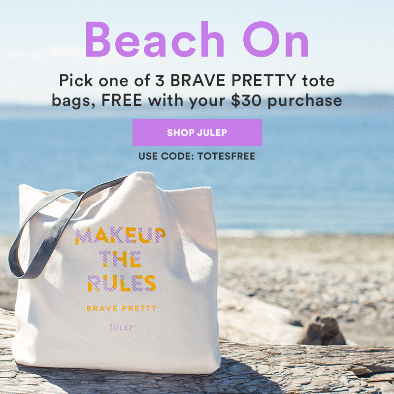 Get a BRAVE PRETTY tote bag* FREE with your $30 purchase