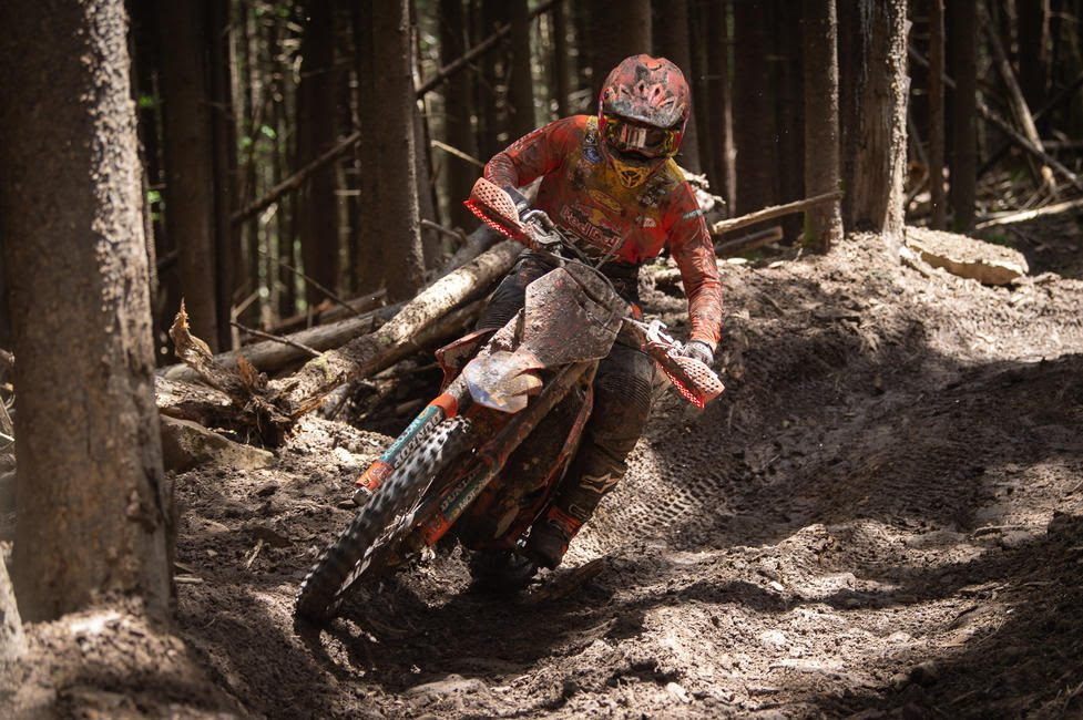 Kailub Russell earned his fifth overall win of the season, and sixth Snowshoe GNCC win.