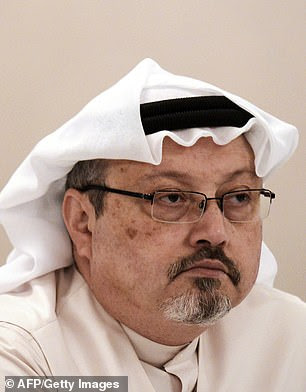 Jamal Khashoggi, pictured, was murdered at Saudi Arabia's consulate in Istanbul on October 2