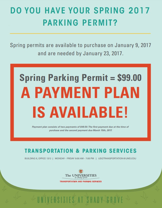 USG Parking Information