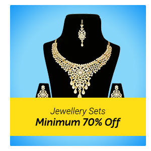 Minimum 70% Off on Jewellery Sets