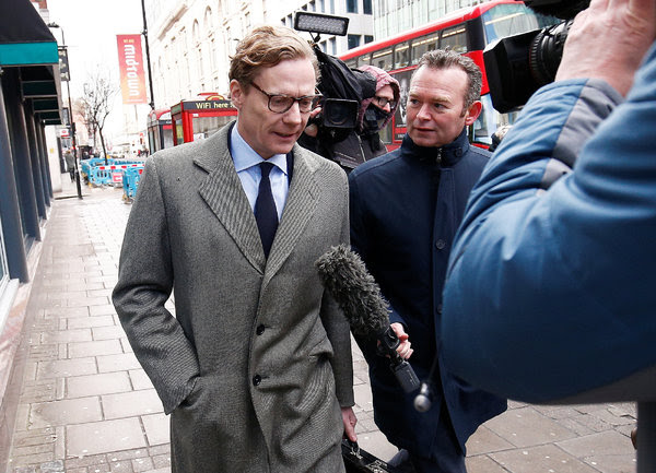 Alexander Nix, the chief executive of Cambridge Analytica, was suspended this week.