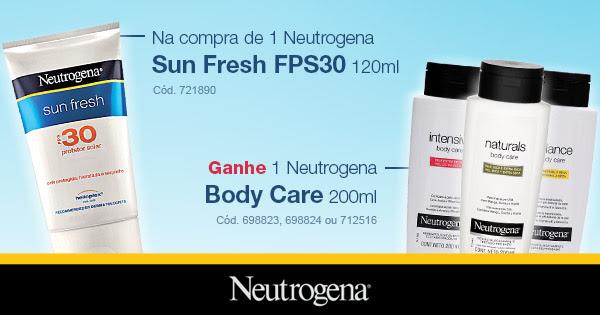 Na compra de 1 Neutrogena Sun Fresh FPS30 120ml Ganhe 1 Neutrogena Body Care 200ml