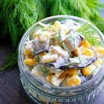 Салат баклажановый с кукурузой