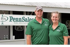 Alex and Kendra Penn at the Keeneland September Sale