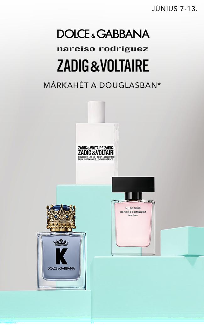 Dolce&Gabbana, Narciso Rodriguez és Zadig&Voltaire márkahét a Douglasban június 7-13.