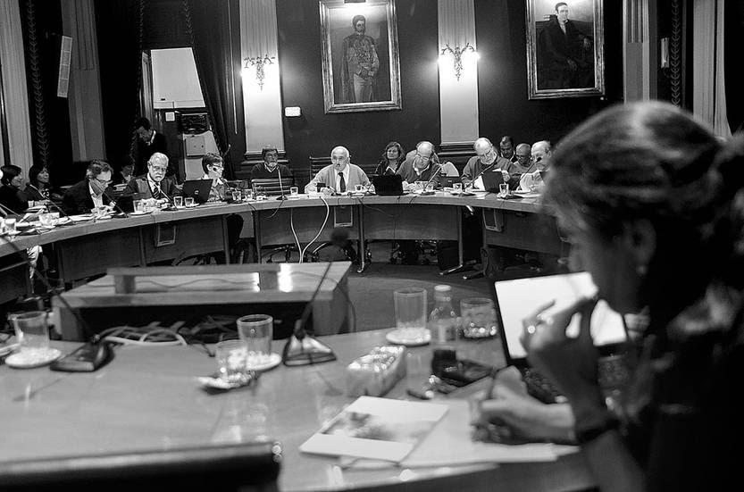 Reunión del Consejo Directivo Central, ayer, en la Universidad. Foto: Pablo Vignali
