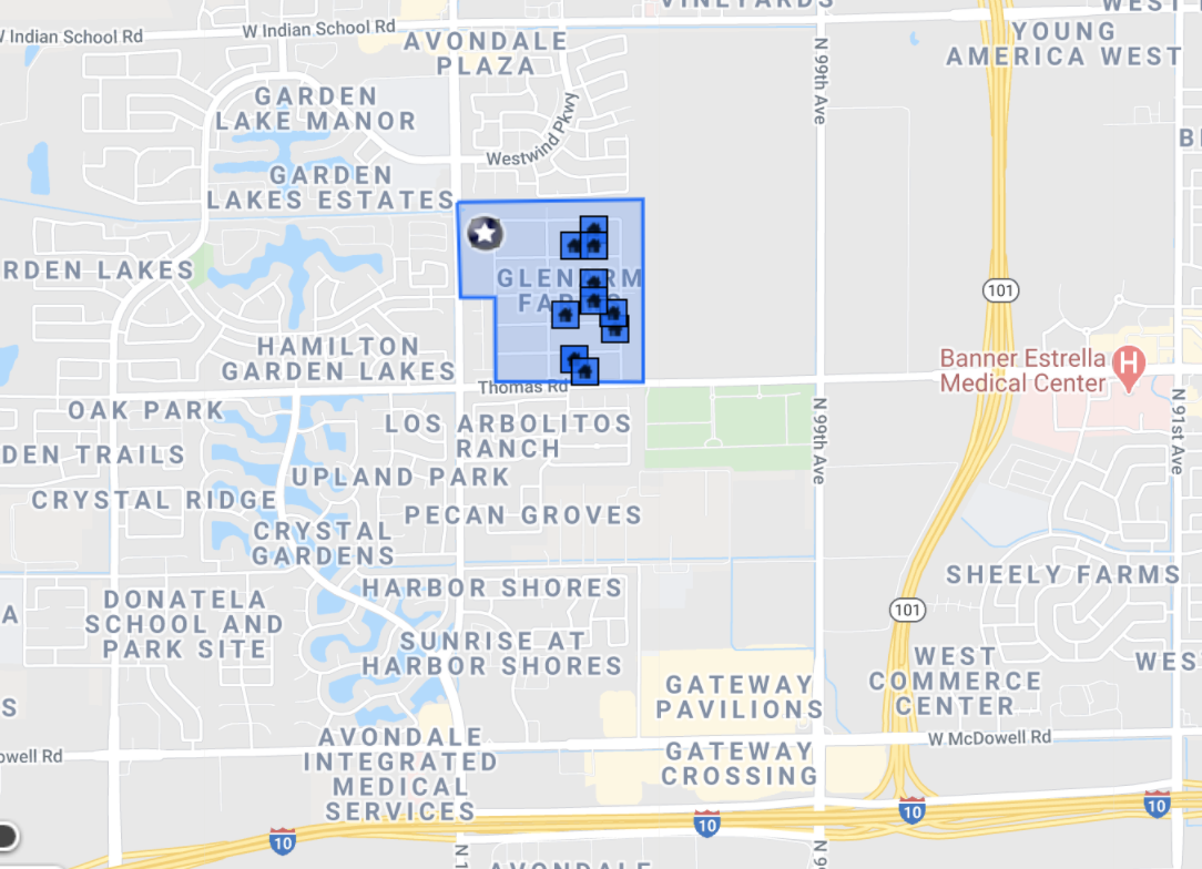 10304 W Catalina Dr Avondale, AZ 85392 comp map