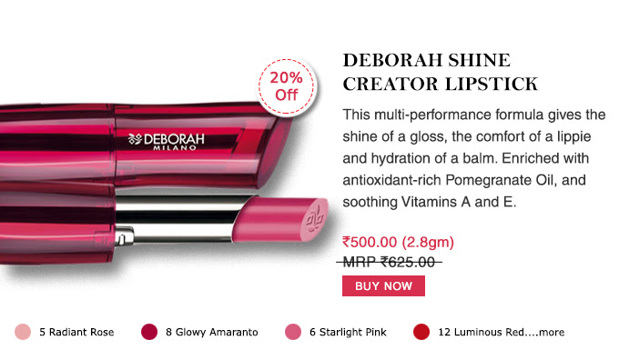 Deborah Shine Creator Lipstick
