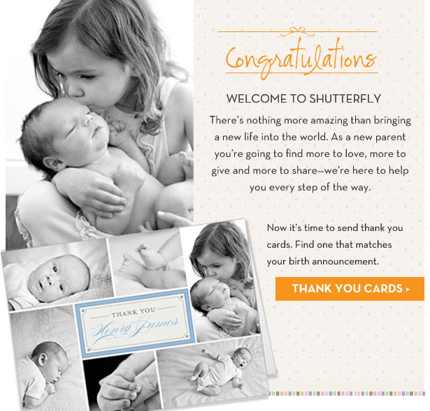 Congratulations! Shop Thank You Cards.