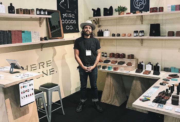 Tyler Deeb Advertising Misc. Goods Co. at a Tradeshow