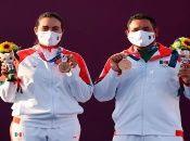 México se estrenó en el medalleroolímpico en tiro con arco, cuya modalidad de parejas mixta es debutante en estas justas de Tokio 2020.