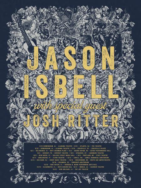Jason Isbell / Josh Ritter Tour Poster
