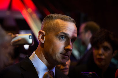 Corey Lewandowski, at Trump Tower in New York in early May, has guided Donald J. Trump's presidential campaign, until now.
