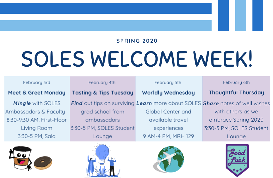 Flyer for welcome back week