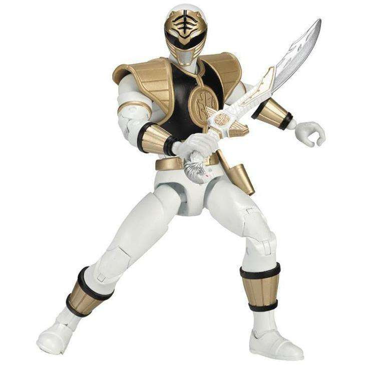 "Image of Mighty Morphin Power Rangers Legacy 6"" White Ranger"