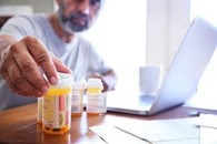 A Veteran reviewing their medications