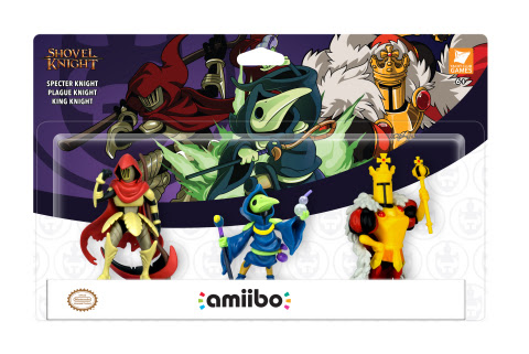 By tapping three new amiibo figures* based on King Knight, Plague Knight and Specter Knight while pl ...