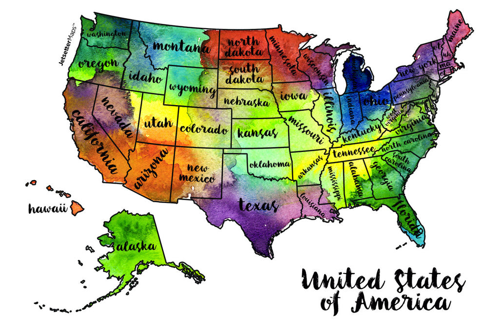 """Image result for """"JetsetterMaps Scratch Your Travels USA Map"""