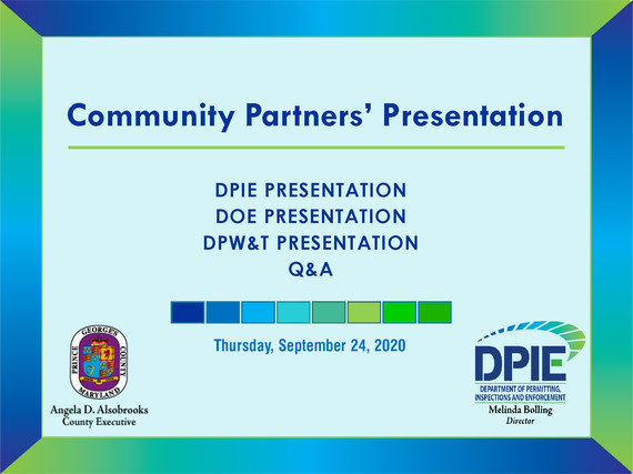 Fall 2020 Community Partners Opening Slide