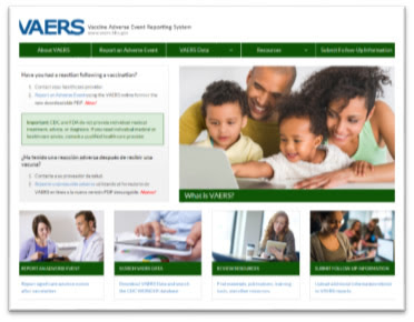 new VAERS website