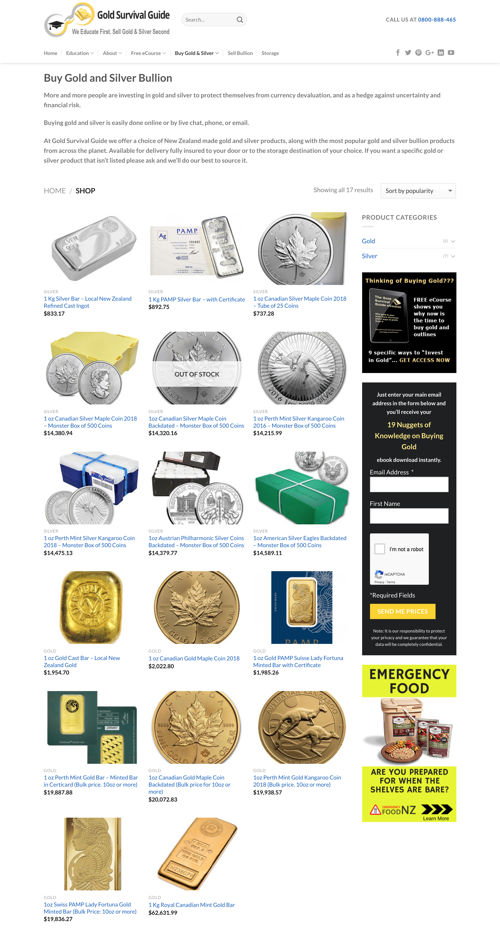 Buy gold and silver online