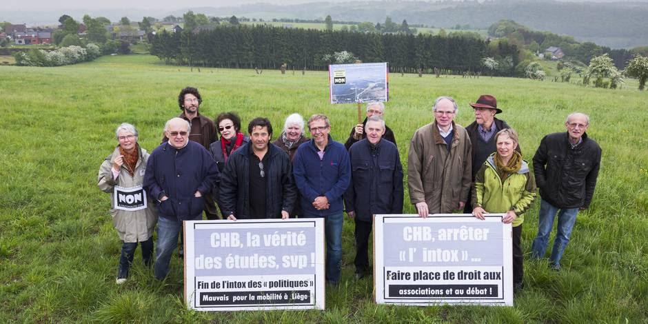 L'agglomération de Liège de nouveau sous la menace d'un projet d'autoroute: la liaison CHB .