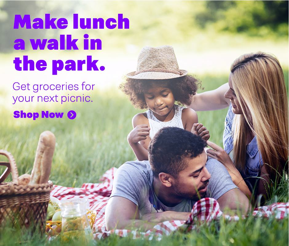 Make lunch a walk in the park. Get groceries for your next picnic.