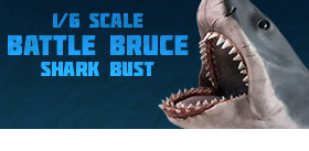 SIXTH SCALE BATTLE BRUCE SHARK BUST