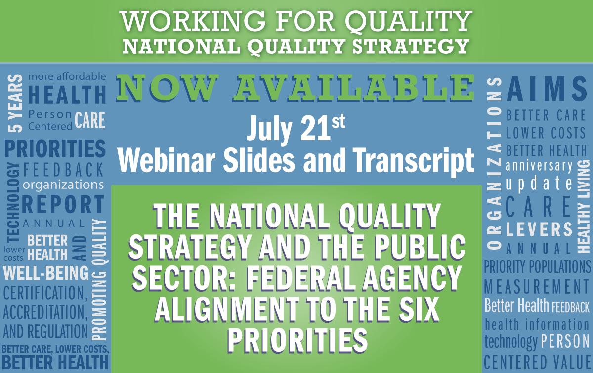 July 21 Webinar Slides and Transcript