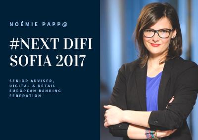 участие на Ноеми Пап – главен експерт по дигитализация към Международната банкова федерация.