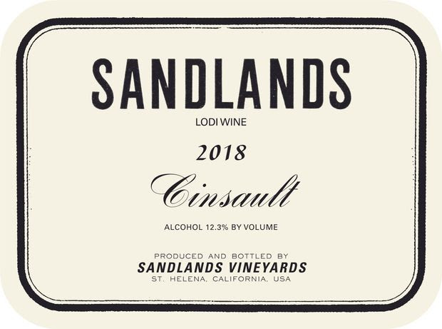 2018 Sandlands Cinsault, USA, California, Central Valley, Lodi -  CellarTracker