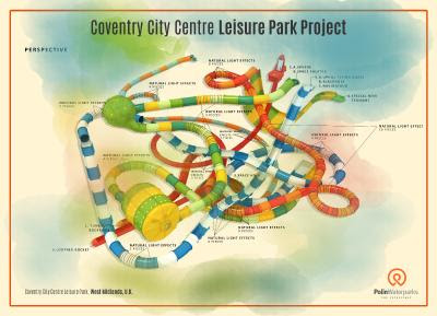 Perspective View - Coventry City Centre Leisure Park