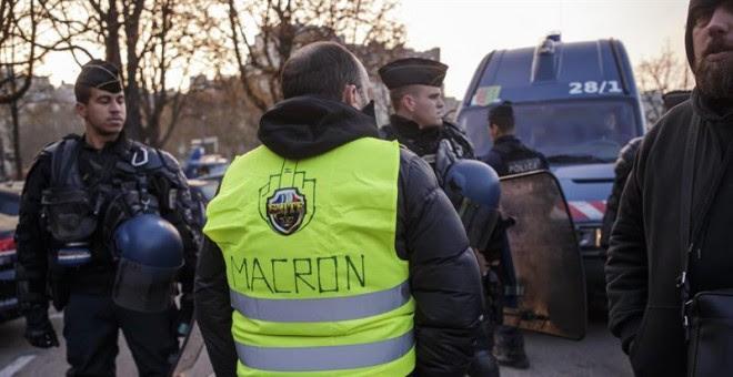 Una de las zonas de la protesta en Francia. EFE/EPA/CHRISTOPHE PETIT TESSON