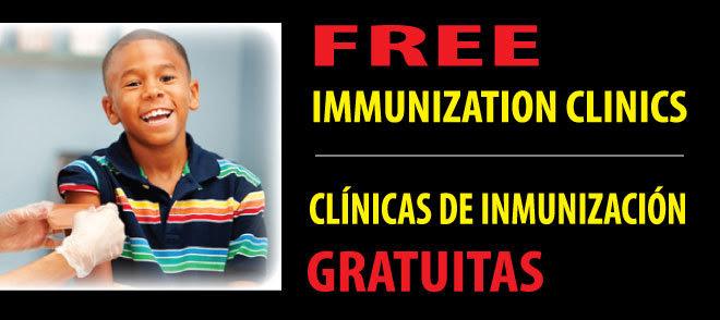 Free Immunizations Banner