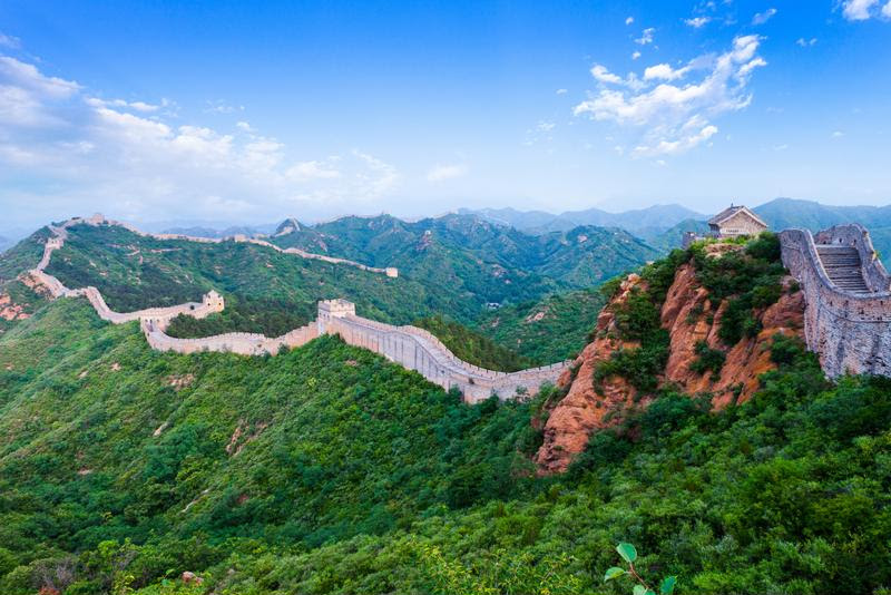 The Great Wall of China is over 5,500 miles long.