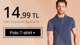 Polo T-Shirt 14,99 TL'den başlayan fiyatlarla