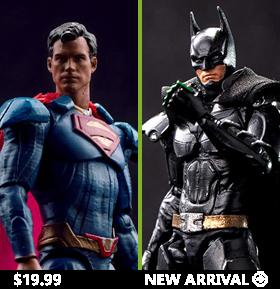 INJUSTICE 2 BATMAN & SUPERMAN 1/18 SCALE FIGURES