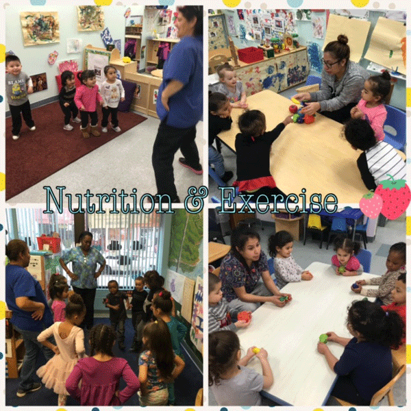Nutrition and Exercise for our Childcare Children!